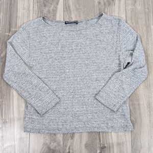 Brandy Melville One Size Gray cropped Shirt